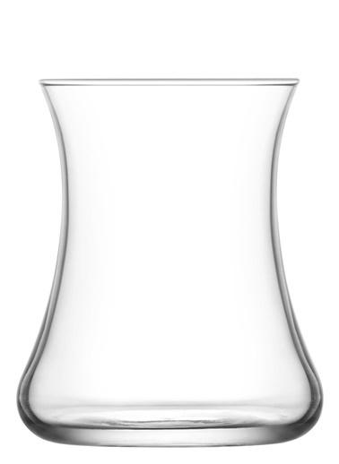Lav Lal Cam Çay Bardağı - 12 Li Çay Bardak Renkli
